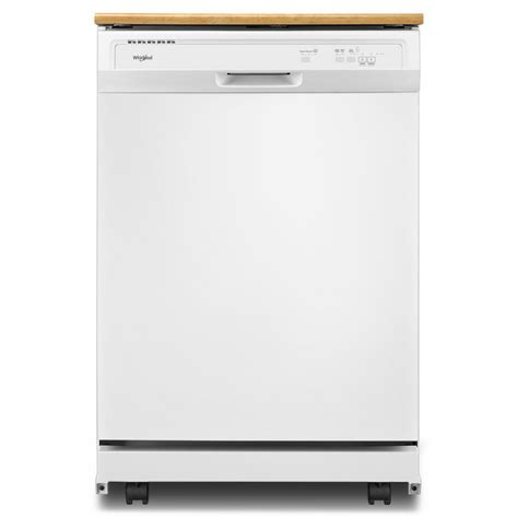 Whirlpool Heavy Duty Portable Dishwasher in White with 12 Place Setting Capacity WDP370PAHW
