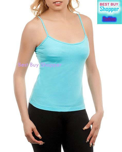 Found A Perfectly Cheap Layering Tank by Details About Womens Aqua Camisole Layering Tank Top