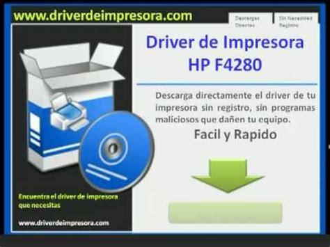 hp deskjet f4280 resetter free download hp f4280 drivers de impresora windows mac youtube