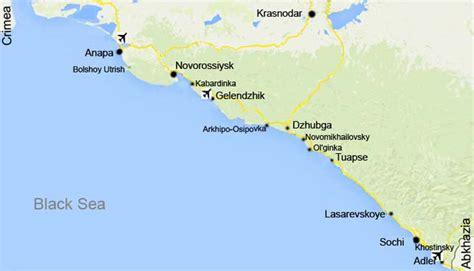 russia map black sea ven 228 j 228 n mustanmeren rannikko tietoa matkailijoille
