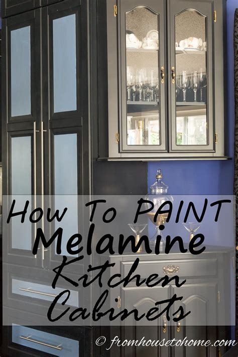 How To Paint Melamine Cabinet Doors How To Paint Melamine Kitchen Cabinets