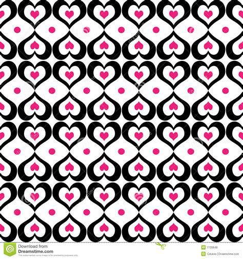 pattern black and pink seamless black and pink hearts pattern royalty free stock