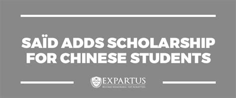 Mba Funding Opportunities by Expartus Mba Consulting Sa 239 D Adds Scholarship For