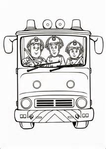 Fun Coloring Pages Fireman Sam sketch template