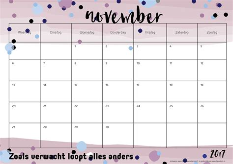 Calendar October 2017 November 2017 December 2017 Free Printable Kalender Voor 2017 Hip Blogazine