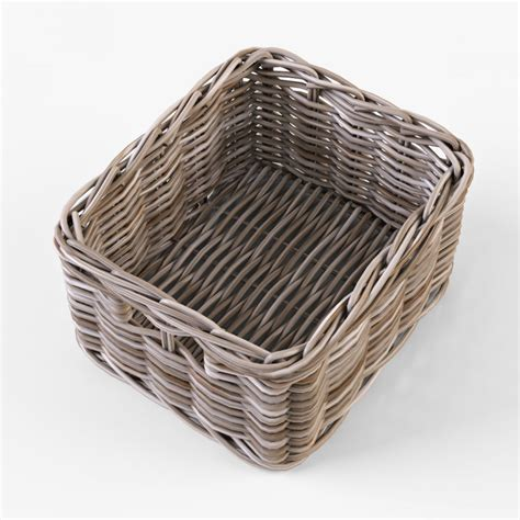 ikea wicker baskets wicker basket ikea byholma 1 gray 3d model cgstudio