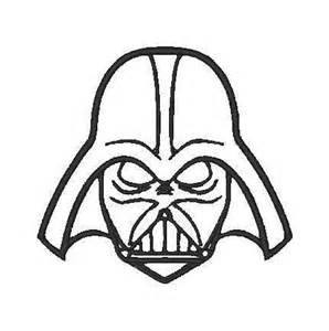 Darth Vader Outline by Darth Vader Outline Embroidery Design By Willowembroidery On Etsy