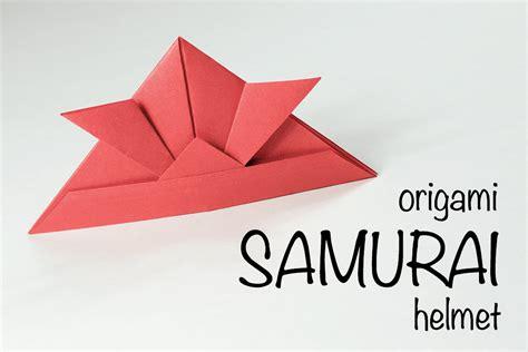 Helmet Origami - origami samurai helmet tutorial