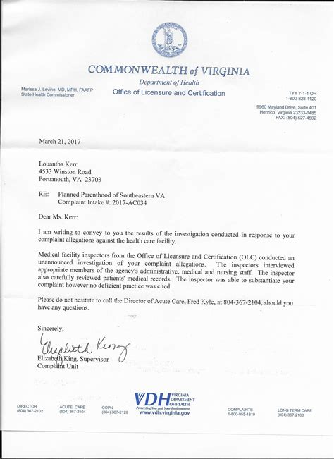 Complaint Letter About School Facilities planned parenthood abortion facilities hospitalize two