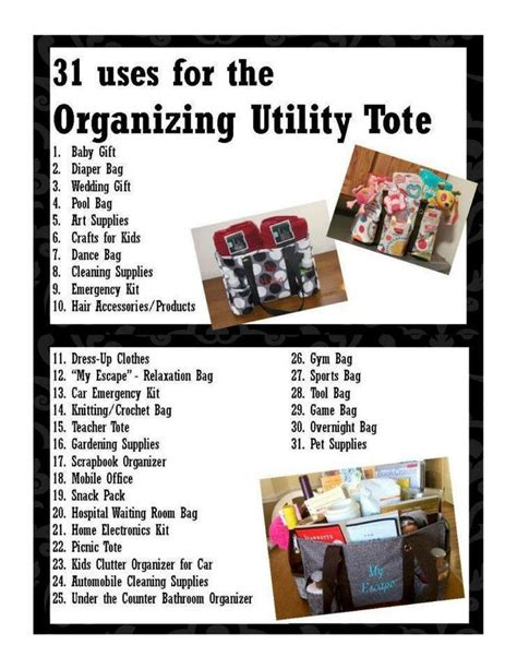ideas matri on pinterest 31 pins 31 uses for the organizing utility tote thirty one ideas