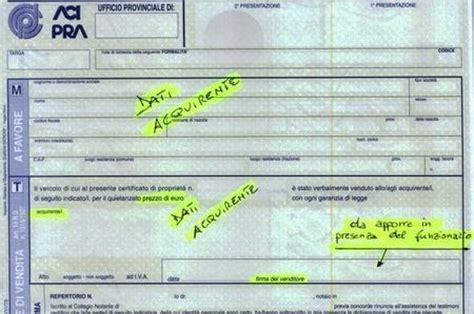 bollo auto in caso di vendita atto di vendita e autentica della firma come vendere un auto