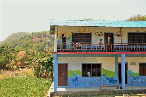 painting in school paint rural schools and give children a better study