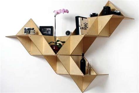 Origami Furniture Design - foldable origami furniture modular shelving