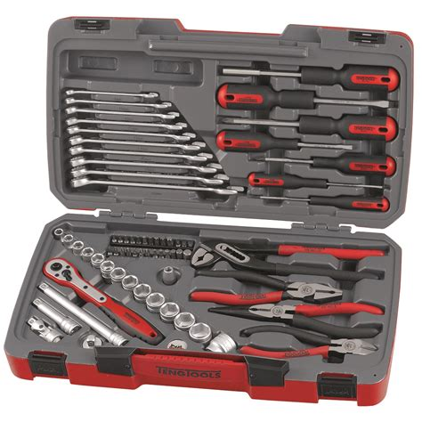 tool sets teng tools t3867 67 3 8 quot drive tool set box kit screwdrivers sockets ebay