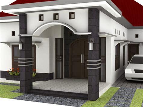 contoh gambar cat tiang teras rumah model minimalis