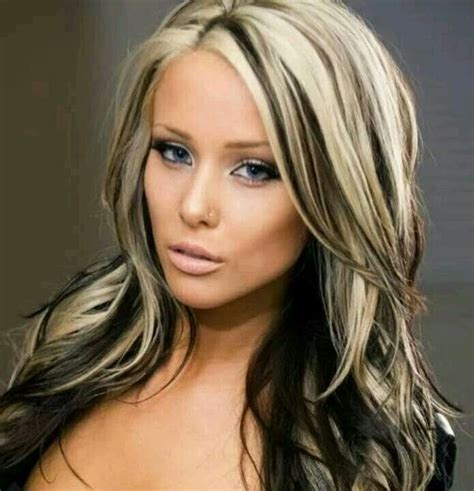 platinum blonde hair with brown highlights love the medium brown with platinum blonde highlights