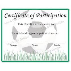 Soccer Award Certificate Template Soccer Certificate Of Participation Certificate By Maxandotis