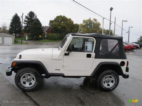 white 1998 jeep wrangler se 4x4 exterior photo