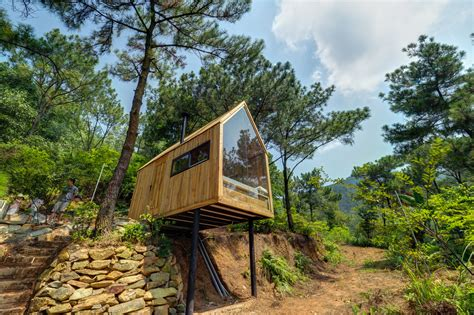 Tiny House Cabin this low cost forest house on stilts is a minimalist dream