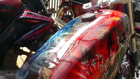 Lu Tembak Motor Rx King hasil pengecatan motor rx king kombinasi pengecatan