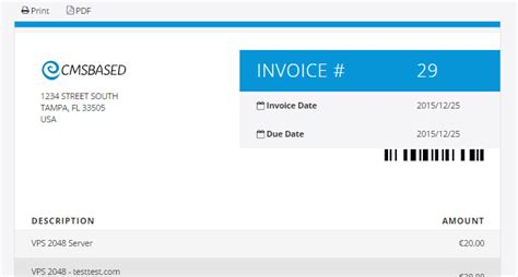 Whmcs Invoice Template by Whmcs Invoice Template Cleanhtml Invoice And Quote