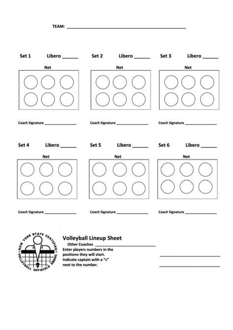 official lineup card template lineup sheet printable pdf