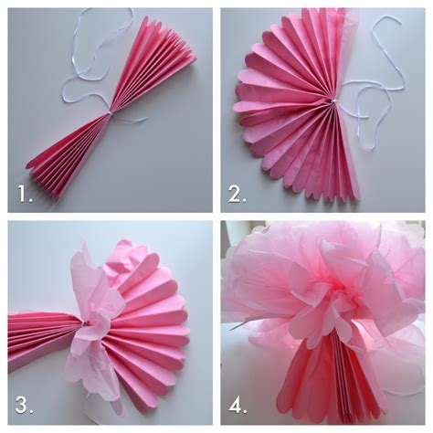 How To Make Tissue Paper Pom Poms Step By Step - how to fluff your tissue pom poms to perfection tutorial