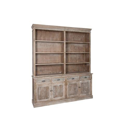 biblioth 232 que 190cm bois gris 233 patin 233 blanchi paolia