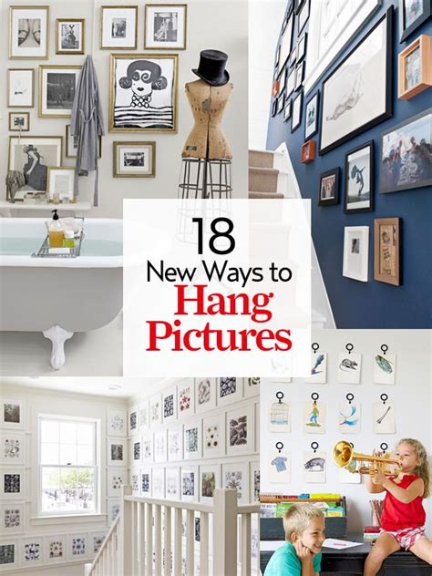 ways to hang pictures 22 new ways to hang pictures