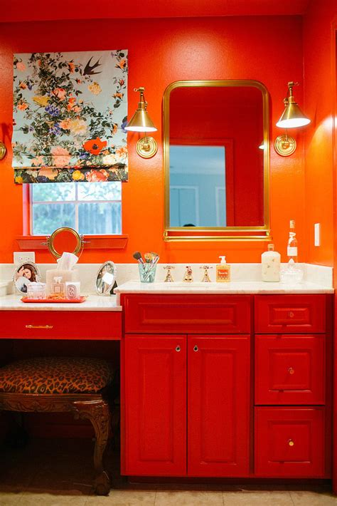 small red bathroom ideas how to place vanities in small bathroom hupehome