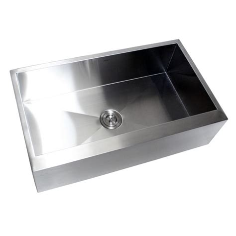 34 inch farmhouse sink 36 inch stainless steel single bowl flat front farm apron