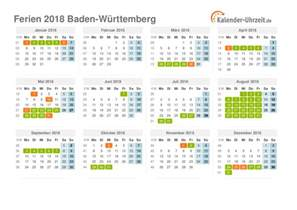 Kalender 2018 Feiertage Baden Württemberg Ferien Baden W 252 Rttemberg 2018 Ferienkalender Zum Ausdrucken