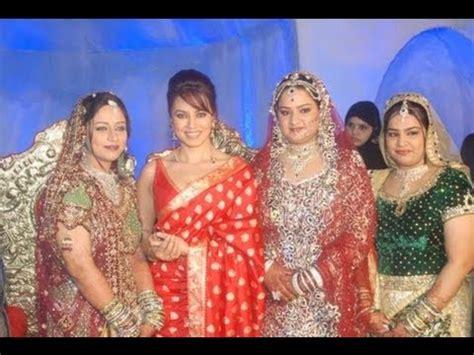 mugdha godse and mahima chaudary at a grand wedding