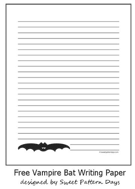 pattern writing paper pin by sweet pattern days on halloween printables pinterest