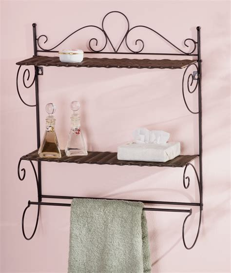 scroll bathroom storage wall rack or decorative shelf