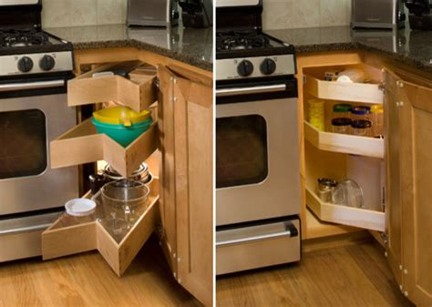 Kitchen Cabinet Pull Out Drawer Organizers by Glide Around Pull Out Shelving Corner Unit Kitchen