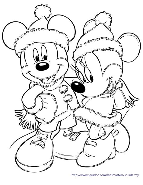 disney christmas coloring pages happy holidays
