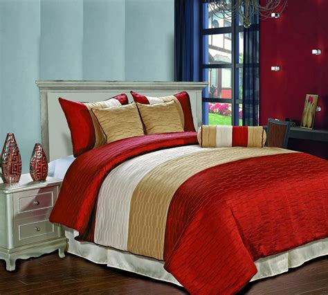 Beige Comforter Sets Queen Red And Beige Cream Bedding Ease Bedding With Style
