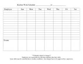 9 best images of printable blank weekly employee schedule