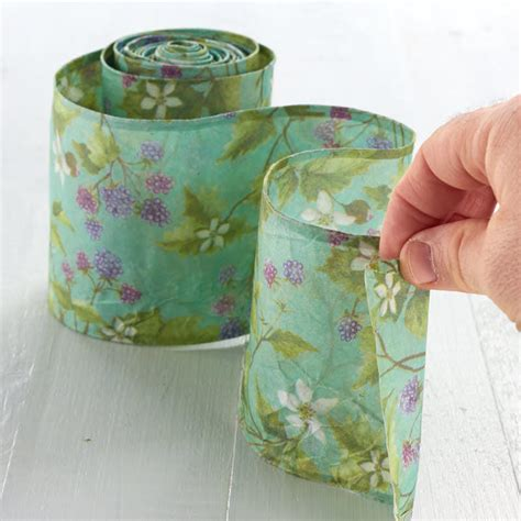 shabby chic floral paper wired ribbon ribbon and trims craft supplies