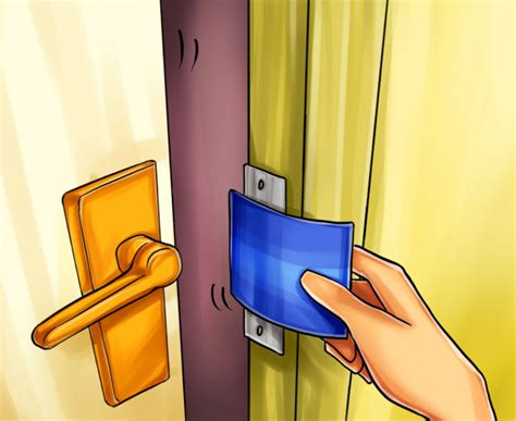 how to open a door with credit card