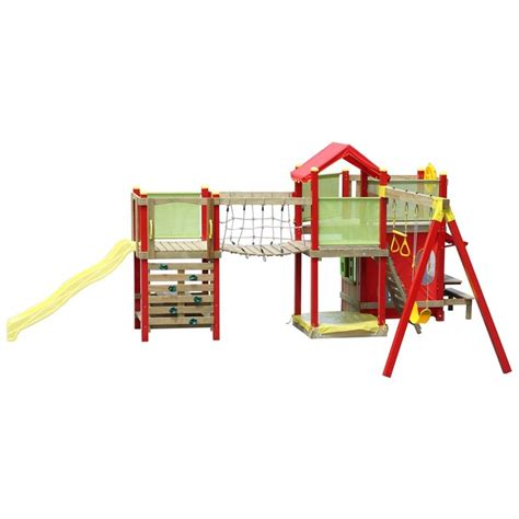 swing sets bunnings swing slide climb bridge and tower extension set kids
