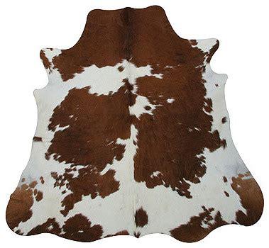 brown cow rug brown white cowhide rug
