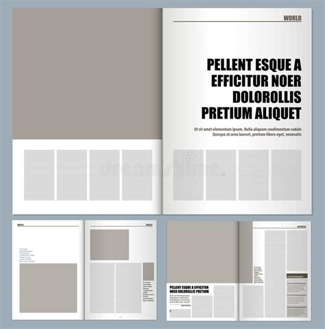 magazine layout design free download modern design magazine stock illustration illustration of