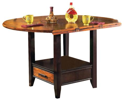 Drop Leaf Table With Storage Abaco Drop Leaf Counter Height Storage Table Contemporary Dining Tables By Shopladder