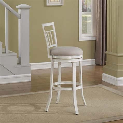 Antique White Swivel Counter Stools palazzo swivel counter stool antique white woven fabric