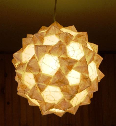 Origami Lantern - items similar to matte white origami hanging lantern on etsy