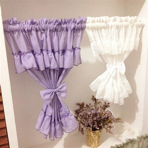 short purple curtains aliexpress com buy purple white door curtains tulle