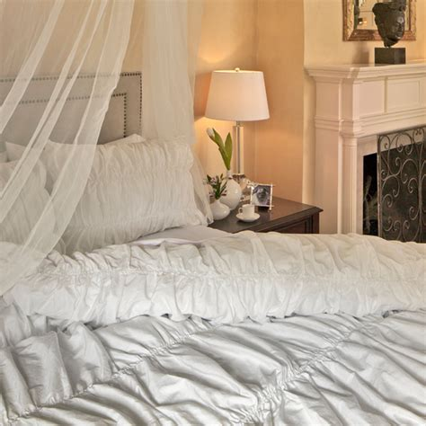 300 thread count ruffle textured duvet cover the sutter
