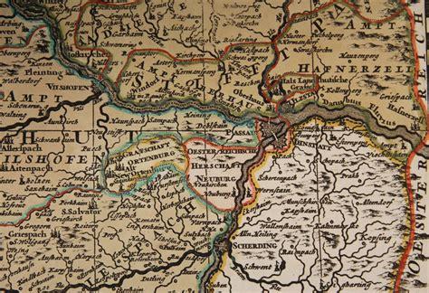century antique map   bavaria germany including munich  vianova  ruby lane